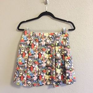 Alice + Olivia Floral Lampshade Parson Skirt 6